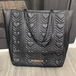 Betsey Johnson NWT Black Heart 3 pocket tote